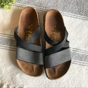 Birkenstock Shoes - PAPILLIO Birkenstock Black Cosma Stretch Sandals aadd0b46e78